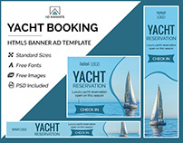 Yacht Booking Banner - HTML5 Ad Templates