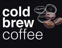 Packaging prototypes for Cold Brew Coffee