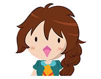 Stiker Line (Chabbie the Funny Expressive Cute Girl)