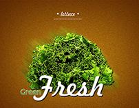 GREEN FRESH | illustration + logo + package design
