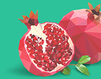 Low-poly Vector Fruits (Free Download! :)