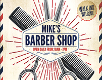 Barber Shop Flyer Template 3