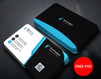 Business Card Design (Free PSD)