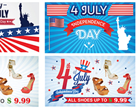 Happy Independence Day United States Website Banners