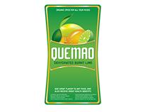 Etiqueta para frasco Quemao. Sabor a limón deshidratad