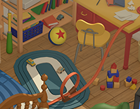 Toystory Andy's Room : Lowpoly 3D Project