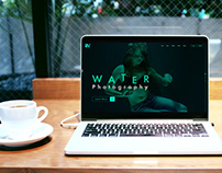 Water Photography Landing Page