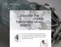 Zhevska Jewelry - UI/UX website design concept