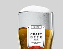 Beer, Bottles and Six Pack Mock up