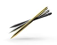 3D Render of Pencils