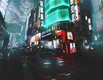 2058 Cyberpunk Environment Concept Art