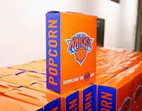 Celebs with NY Knicks Popcorn Boxes