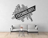 Cairns Technology Group - Reception Office Wall Design