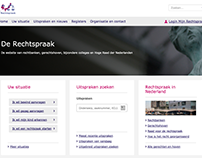 Redesign Dutch Government website of juridical system