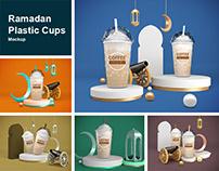 Ramadan Plastic Cups Mockup