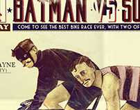 Poster vintage: Batman vs Superman