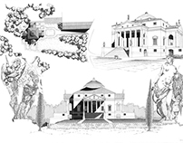 Villa Rotonda Drawing