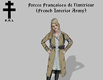 Historical Uniforms French Resistance art