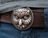 """Owliver"" Belt Buckle"