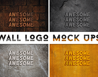 3D Wall logo mock ups