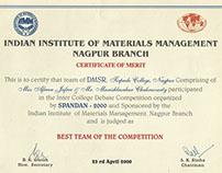 Certificates of Dr. Manishankar Chakraborty, Set-2