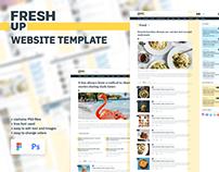 Fresh Up – News & Magazine Minimal Website UI Elements