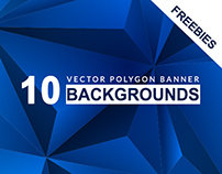 10 Polygon Background Banners- Freebies
