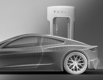 Tesla | CGi | Hard-surface modeling