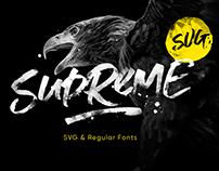 Supreme Script + SVG