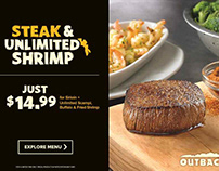 Outback Steak House: Static Banners Ads
