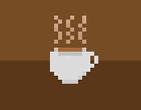 Pixel Art Coffee Animation