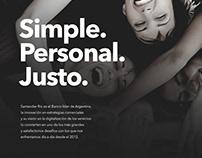 Los inicios como agencia digital de Santander Rio.