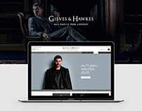 Gieves & Hawkes - Website design