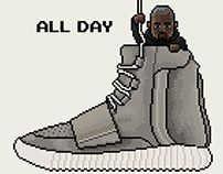 8bit rules - YEEZY BOOST