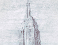 Empire State Building drawing