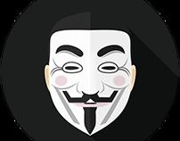 Anonymous Flat Design