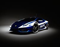3D Render - Lamborghini Huracan - Italian Polizia