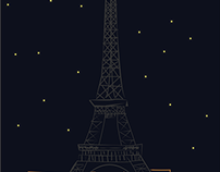 Night in Paris - Smartphone Wallpaper