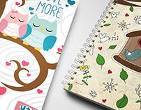 Ilustraciones para cuadernos