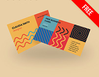 Free Geometric Business Card PSD Template
