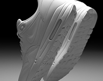 Blender -3d- Nike Air Max Soon with textures