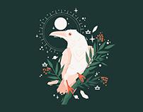 Celestial Messenger White Raven Design