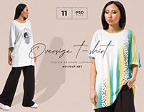 Oversize t-shirt mockup set + Freebie