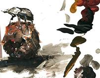 Watercolor Artwork & Placement Print - Beetles