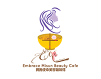 Embrace Misun Beauty Cafe Logo Design