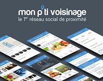 App design - Mon P'ti Voisinage