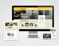 Homepage design for Bon App's Website