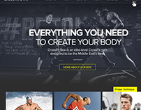 Concept of Landing page for fitness club