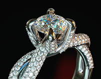 Claw diamond ring