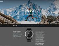 Garmin Fenix 3 web campaign